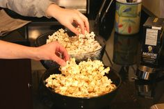 DIY kettle corn- use the whirley pop- or it will be like caramel corn, and can easily burn...