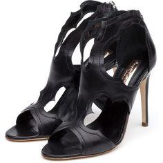 Rupert Sanderson High Heel Sandals (43.555 RUB) ❤ liked on Polyvore featuring shoes, sandals, rupert sanderson shoes, black high heel shoes, black shoes, rupert sanderson and high heel sandals