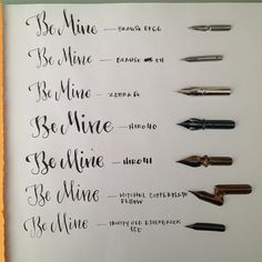 Here are all the nibs alongside. #istilllovecalligraphy | Use Instagram online! Websta is the Best Instagram Web Viewer!