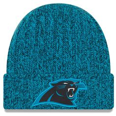 95e091f7998 Women s Carolina Panthers New Era Blue 2018 NFL Sideline Cold Weather  Official Knit Hat