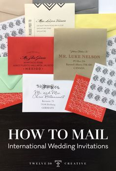 All your questions about mailing wedding invitations to international guests are answered!