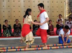 Tinikling dance ~ I remember learning this in elementary school and being terrified my ankles would get caught!