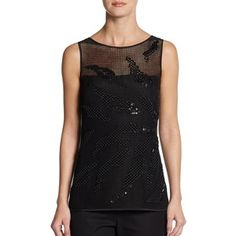 Escada Naho Stitched Mesh Top