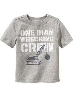 """One Man Wrecking Crew"" Graphic Tees for Baby"