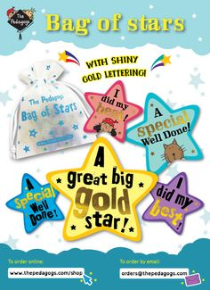 These big shining stars speak for themselves! http://www.thepedagogs.com/cscart/index.php?target=products&product_id=30295  Refill version stickers are featuring our lovely characters! http://www.thepedagogs.com/cscart/index.php?target=products&product_id=30328