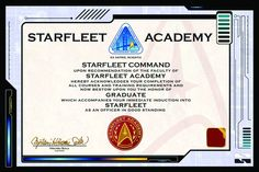 Proudly display your diploma from Starfleet Academy with this Star Trek wall poster!