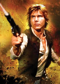 Harrison Ford as Han Solo....can come sweep me off my feet any day now!