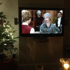 Finally getting around to watching Downton.  #downtonabbey #downtonabbey #perfectevening