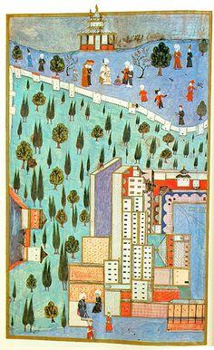 The Third Court of the Topkapi Palace-1584-Hünername-Nakkaş Osman