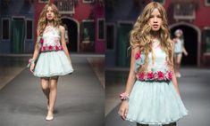 Más de 20 fotos de vestidos de fiesta para niña, Primavera-Verano: El celeste