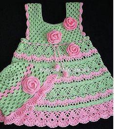 Gorgeous gorgeous. Crochet dress for girl. I loved. Graphic. shared - Crochet Designs Free