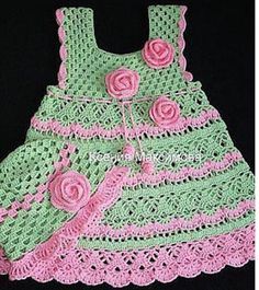 Gorgeous gorgeous. Crochet dress for girl. I loved. Graphic. shared - Crochet Designs Free