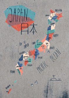 Carte illustrée Japan