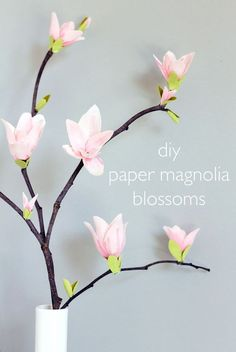 Make it yourself a spring arrangement of paper cherry blossoms 11 paper flower projects that will make you smile mightylinksfo Image collections