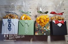 Simple Favor Boxes for Father's Day. Easy to change up for any occasion. Video on blog.