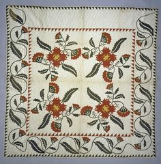 1865 - 1870 Lizzie Lisle's Floral Appliqued Quilt | National Museum of American History