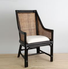 LINDEN CARVER 'square weave' in Ebonised frame | Lincoln Brooks Design & Manufacture Traditional & Contemporary Furniture