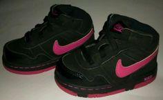 Toddler Nike Dunk Hightop Shoes Pink Black Girls 5C Sneakers Basketball Walking