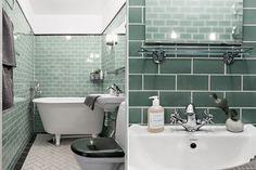 Tegnérgatan 47B, 4 tr Cosy Bathroom, Bathroom Inspo, White Bathroom, Bathroom Inspiration, Home Interior Design, Interior Decorating, Gold Home Decor, London House, Dream Bathrooms