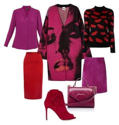 Shocking purple by natalia-minnigalimova on Polyvore featuring мода, Yves Saint Laurent, M Missoni, Ted Baker, Roland Mouret, L.K.Bennett, Karen Millen and Lulu Guinness