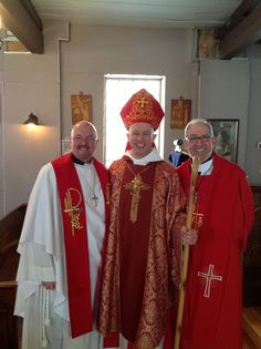 Father Lenny, Bishop Ted & Father Mike