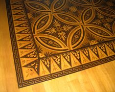 Faux Marquetry with Modello® Designs masking stencils and stains!