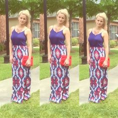 Fabulous Summer Girly Girl Maxi  This dress is girl to the max! Soft material and lightweight. Only worn a few times and in perfect condition! Straps are adjustable to fit a range of chest sizes.  ✨Like the look? The vi rage red clutch and red statement necklace are listed in my closet. Bundle to get the whole outfit for a discount ✨ Charming Charlie Dresses Maxi