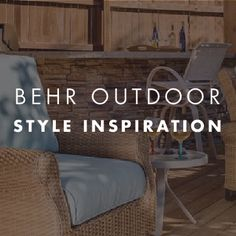 Give wood the ultimate in protection with BEHR PREMIUM® Transparent Waterproofing Wood Finish. Behr, Entryway, It Is Finished, Style Inspiration, Wood, Outdoor, Furniture, Home Decor, Courtyards