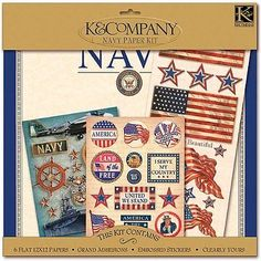 K&Company Military Scrap Kit, 12-Inch x 12-Inch, Navy - http://crafts.goshoppins.com/scrapbooking-paper-crafts/kcompany-military-scrap-kit-12-inch-x-12-inch-navy/