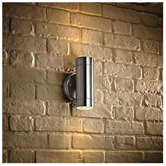 Stainless Steel Up Down Wall Light for outside. looks really lovely!