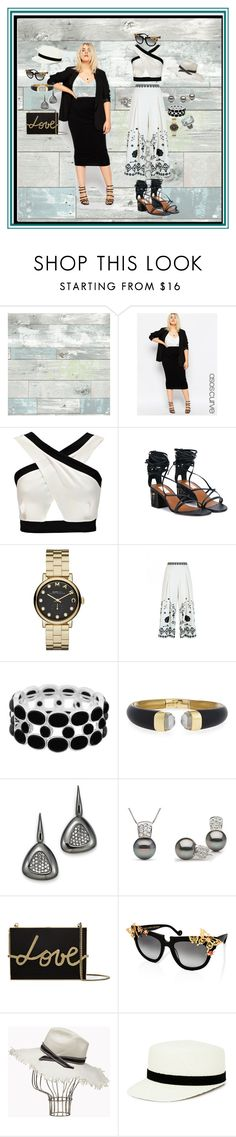 """""""Good news today"""" by blujay1126 ❤ liked on Polyvore featuring WallPops, ASOS Curve, Boohoo, Valentino, Marc by Marc Jacobs, Temperley London, Liz Claiborne, Alexis Bittar, Roberto Coin and Lanvin"""