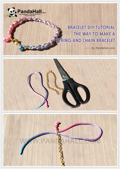 Bracelet Diy Tutorial- The Way to Make a String and Chain Bracelet from pandahall.com