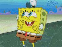 happy spongebob animated GIF