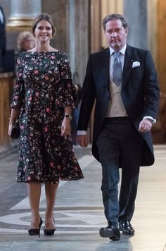 Princess Madeleine of Sweden and Christopher O'Neill arrive to the Te Deum ceremony at the Royal Chapel for the new born Prince Gabriel, son of Prince Carl Philip and Princess Sofia in Stockholm, Sweden, on September 4, 2017.