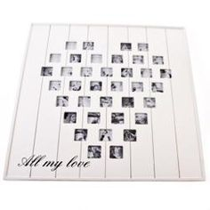 Really cute idea! Fill with black and white pictures!