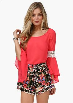 Want The Flare Blouse