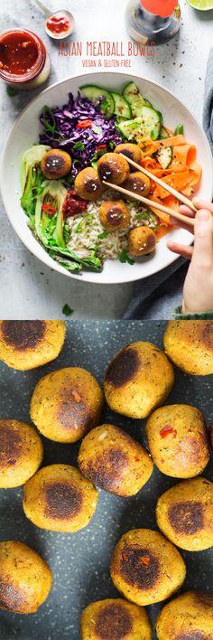 #vegan #veganmeatballs #meatballs #salad #saladbowl #healthy #veganuary #january #glutenfree #easy #asian