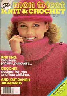 Mon Tricot Knitting Crochet Patterns Jacket Pullover Sweaters Curtains 1979 VTNS #MonTricotKnitCrochet