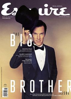 Twitter / esquiremy: Our #BigBrother issue is out!  Cover:#BenedictCumberbatch, who plays #JulianAssange in new film