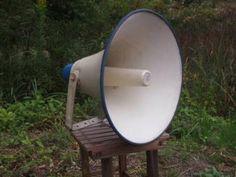 昭和の懐かしい 山の分校で使用していた拡声器 スピーカー 特大