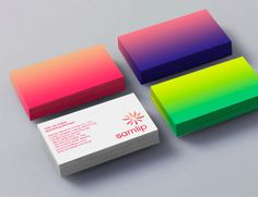 Gradients on #print. Looks great! #businesscards