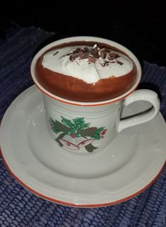 Rich Italian Hot Chocolate | Cleobuttera Holiday Snacks, Christmas Snacks, Dessert Recipes, Drink Recipes, Desserts, Italian Hot, Chocolate Shavings, Hot Chocolate Recipes, Beverages
