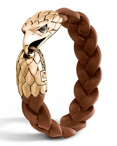 John Hardy- Mens Bronze Eagle Head Bracelet