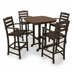 POLYWOOD 5-pc. La Casa Cafe Bar Chair and Table Set - Outdoor #Kohls