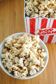 Cinnamon toast popcorn made with coconut oil and coconut sugar makes a quick, easy, vegan treat.