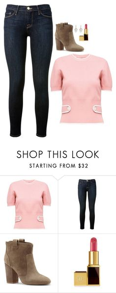 """Felicity Smoak Inspired Outfit"" by daniellakresovic ❤ liked on Polyvore featuring Miu Miu, Frame, French Connection and Tom Ford"