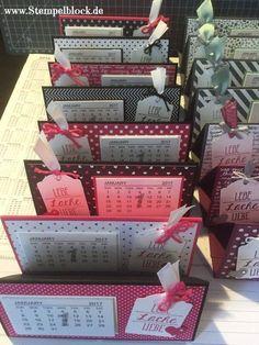 Tischkalender / Mini-Kalender mit Stampin´UP Produkten stampinup Weihnachten, Geschenk, stampin up, Minikalender