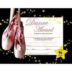Free printable ballet certificates dance award templates dance award certificate 30 pack downloadable templates available to personalize or can be handwritten yadclub Gallery