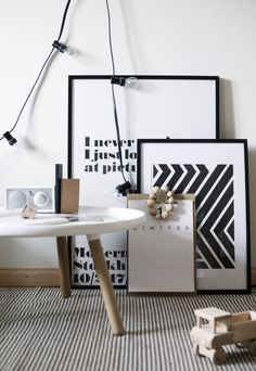 I love the graphic pattern, type and practical calendar, so simple - so striking as a combination.   White space helps too!