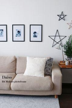 ★穴をあけずに壁にフレームを飾る方法♪ | インテリアと暮らしのヒント